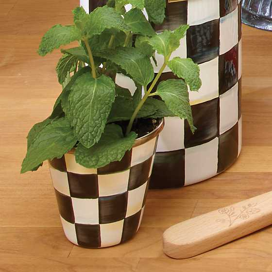 Courtly Check Enamel Herb Pots - Set of 3 image five