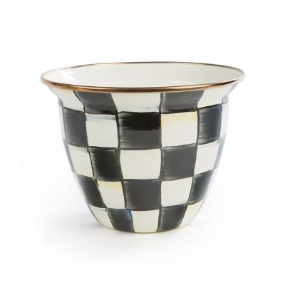 Image for Courtly Check Enamel Flower Pot - Large