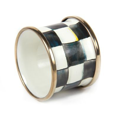 Courtly Check Enamel Napkin Ring