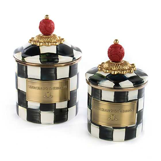 Courtly Check Enamel Canister - Mini image three