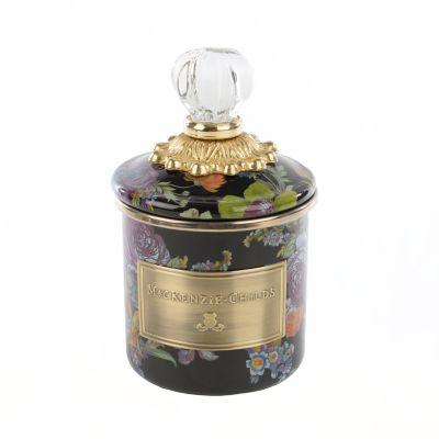 Flower Market Mini Canister - Black