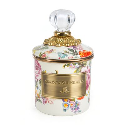 Flower Market Mini Canister - White