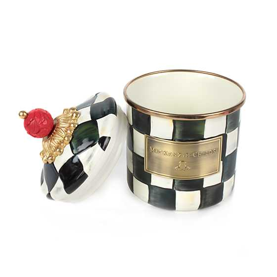 Courtly Check Enamel Canister - Demi image three