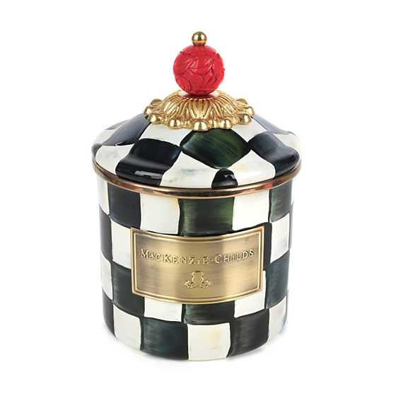 Courtly Check Enamel Canister - Demi image one