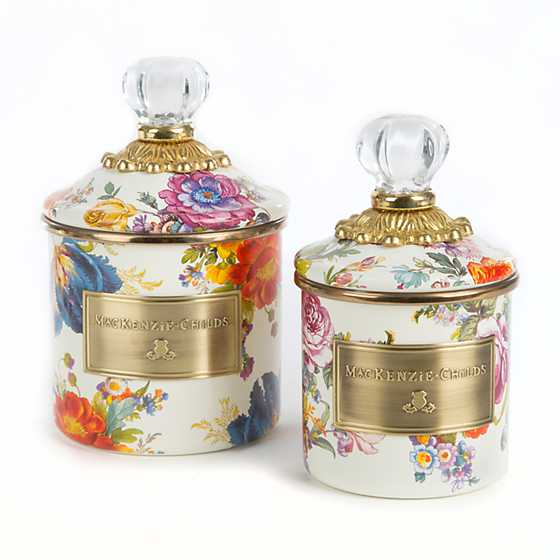 Flower Market Demi Canister - White image three
