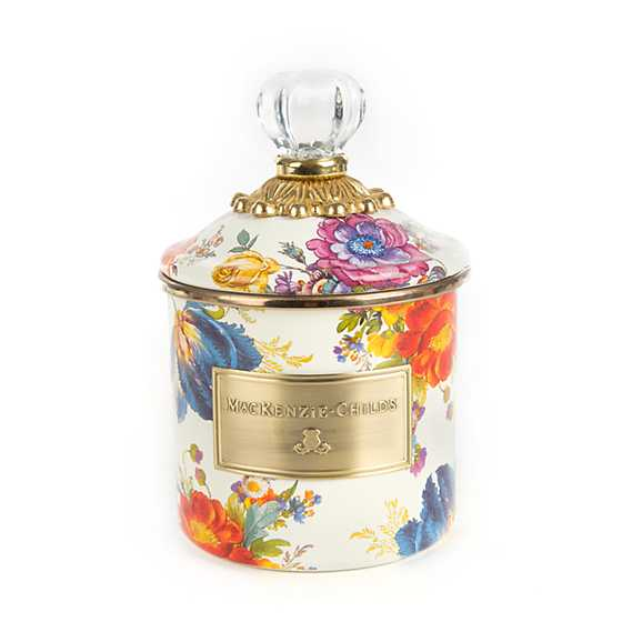 Flower Market Demi Canister - White image one