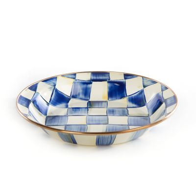 Royal Check Enamel Pie Plate