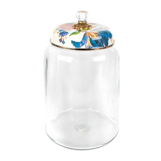 Flower Market Storage Canister - White - Biggest