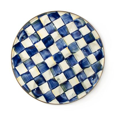 Royal Check Enamel Egg Plate