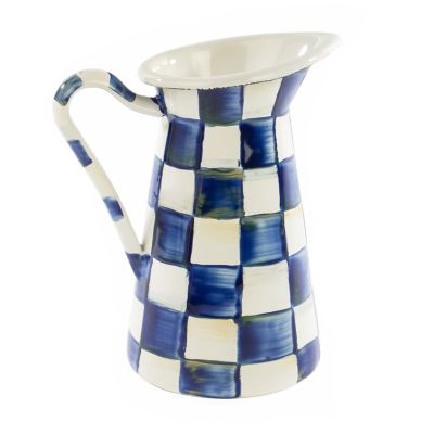 Royal Check Enamel Practical Pitcher - Small