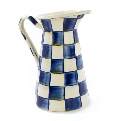 Royal Check Enamel Practical Pitcher - Medium