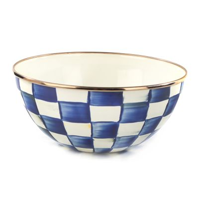 Royal Check Enamel Everyday Bowl - Small