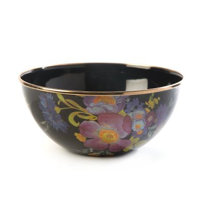 Flower Market Small Everyday Bowl - Black