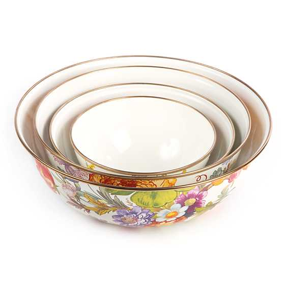 Flower Market Small Everyday Bowl - White image three