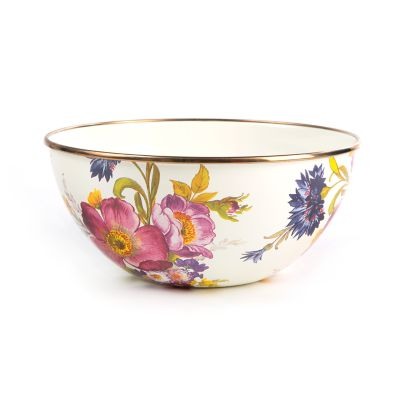 Image for Flower Market Small Everyday Bowl - White
