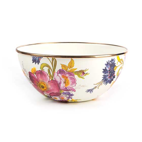 Flower Market Small Everyday Bowl - White