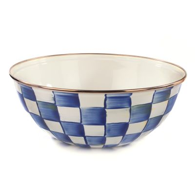 Royal Check Enamel Everyday Bowl - Medium