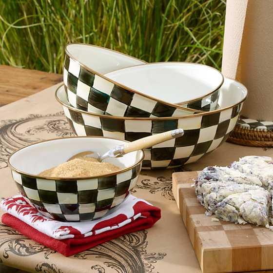 Courtly Check Enamel Everyday Bowl - Medium image three
