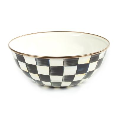 Courtly Check Enamel Everyday Bowl - Medium