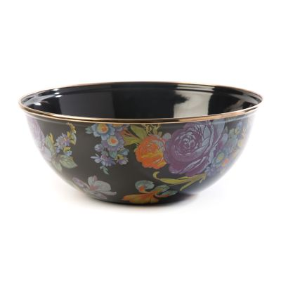 Flower Market Medium Everyday Bowl - Black