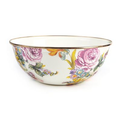 Flower Market Medium Everyday Bowl - White