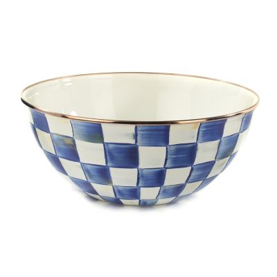 Royal Check Enamel Everyday Bowl - Large