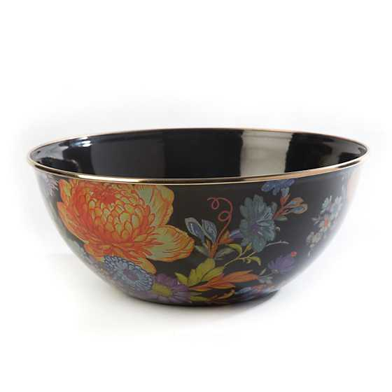 Flower Market Large Everyday Bowl - Black