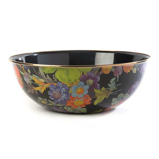 Flower Market Extra Large Everyday Bowl - Black