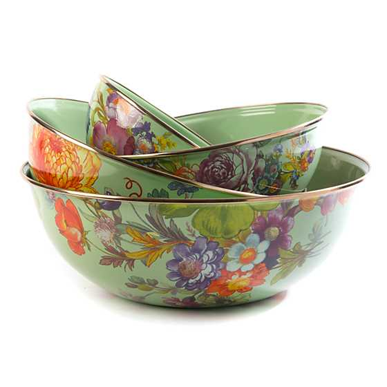 Flower Market Extra Large Everyday Bowl - Green image four