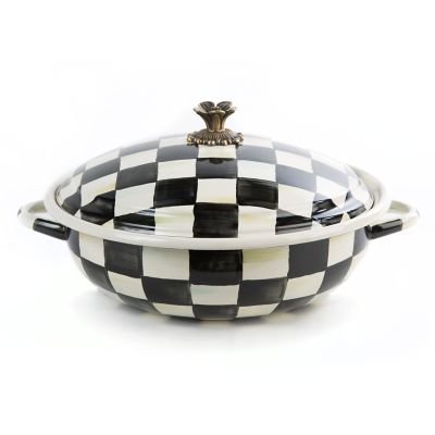 Courtly Check Enamel Casserbole - Large