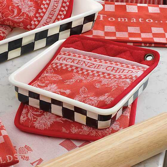 "Courtly Check Enamel Baking Pan - 8"" image four"