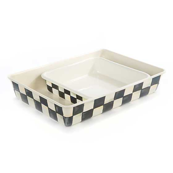 "Courtly Check Enamel Baking Pan - 8"" image three"