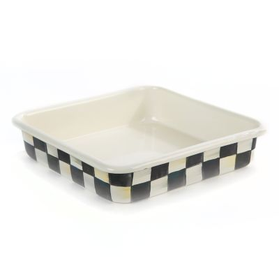 Image for Courtly Check Enamel Baking Pan - 8""