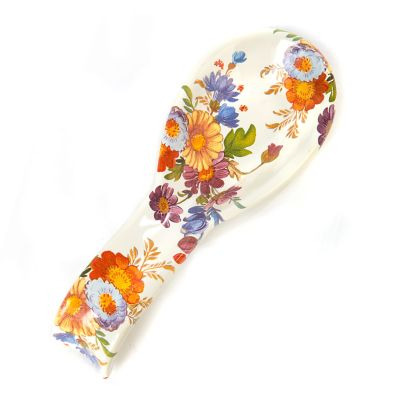 Flower Market Spoon Rest - White