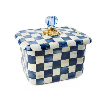 Royal Check Recipe Box