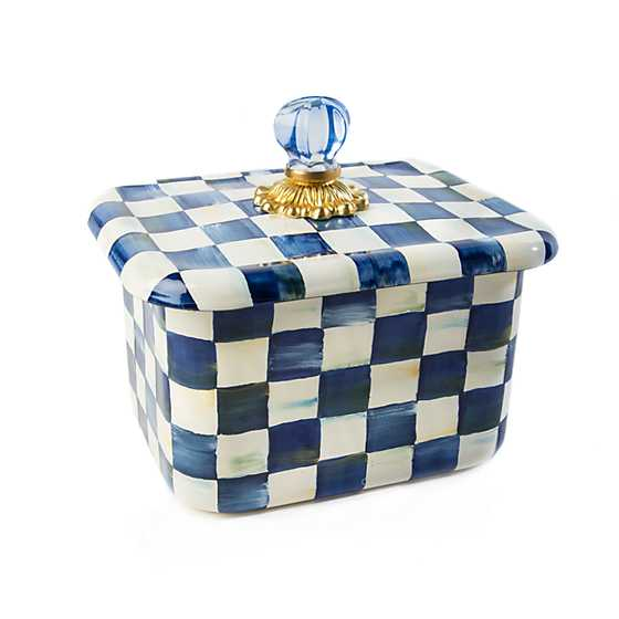 Royal Check Enamel Recipe Box