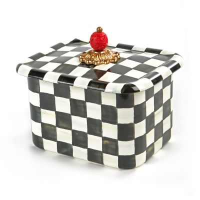Image for Courtly Check Enamel Recipe Box