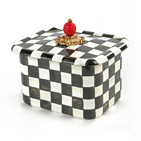 Mackenzie childs courtly check enamel recipe box courtly check enamel recipe box thecheapjerseys Images