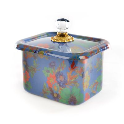 Flower Market Recipe Box - Lapis