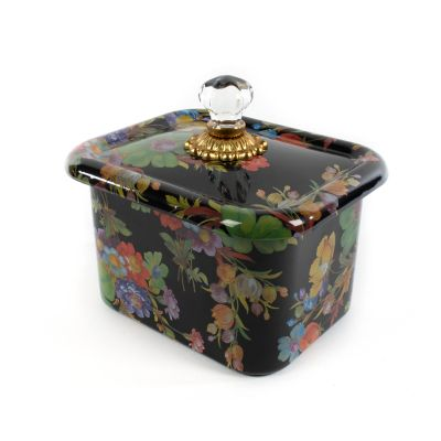 Flower Market Recipe Box - Black