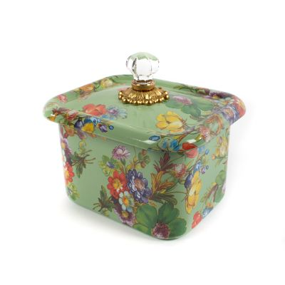 Flower Market Recipe Box - Green