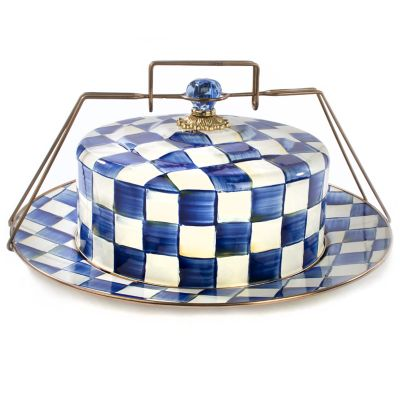 Royal Check Enamel Cake Carrier