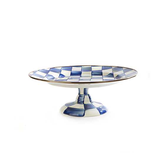 Royal Check Pedestal Platter - Small image one
