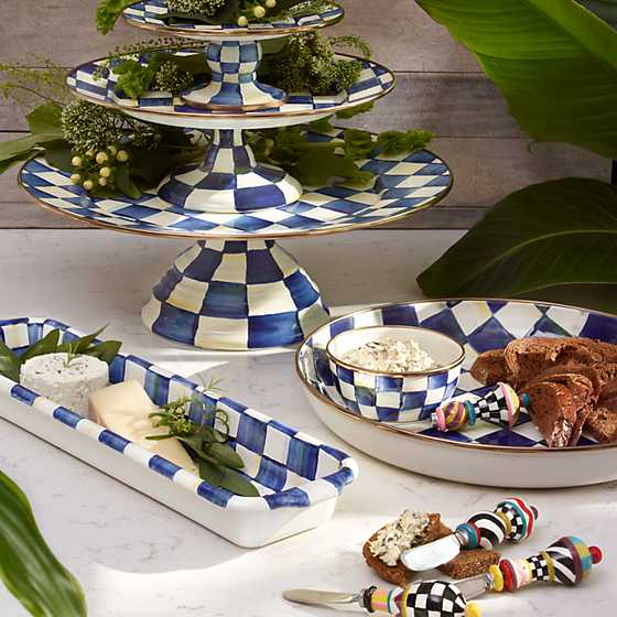Royal Check Pedestal Platter - Mini image two