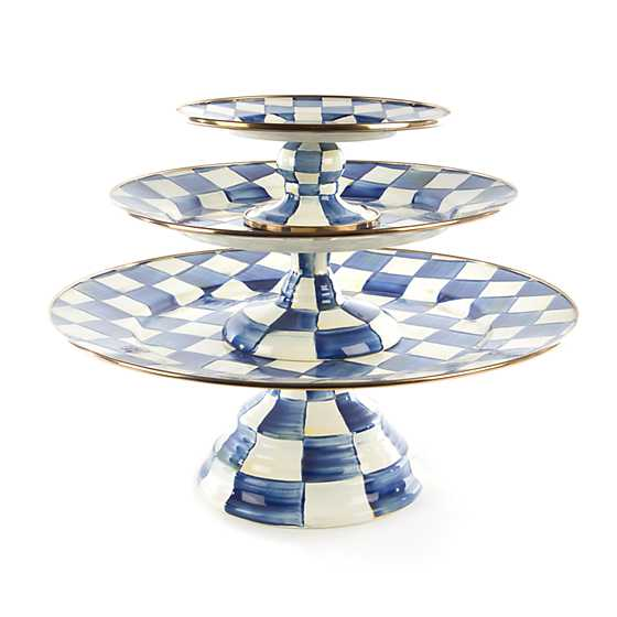Royal Check Pedestal Platter - Mini image three