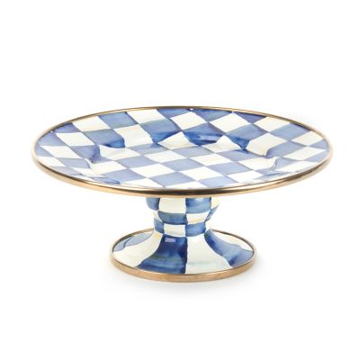 Royal Check Pedestal Platter - Mini