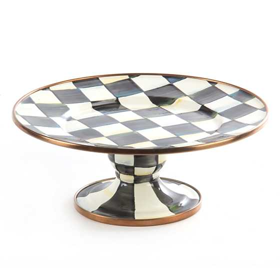 Courtly Check Enamel Pedestal Platter - Mini image one