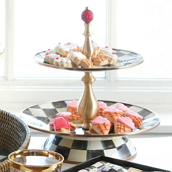 Courtly Check Enamel Two Tier Sweet Stand image two