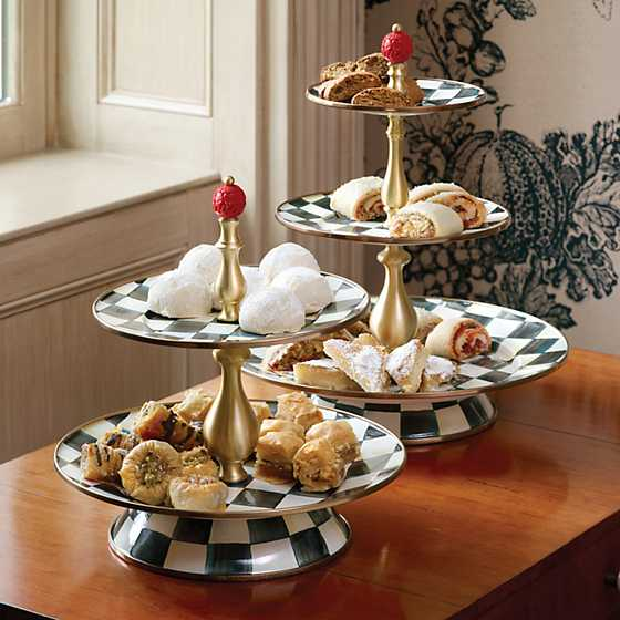 Courtly Check Enamel Two Tier Sweet Stand image seven