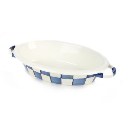 Image for Royal Check Enamel Oval Gratin - Small